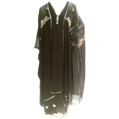 Janice Wainwright Sun and Rain Caftan Style Dress. Early 1970's.
