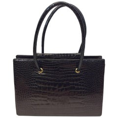 Judith Leiber Black Skin Tote With Coin Purse