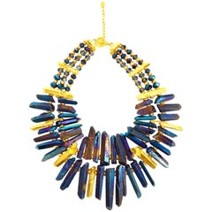 21st Century Jose and Maria Barrera Iridescent Rock Crystal Necklace