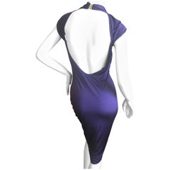 Gucci by Tom Ford Purple Backless Knot Dress