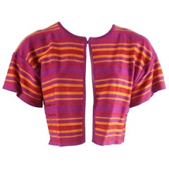 M Missoni Pink, Red and Orange Cotton Knit Bolero - 6