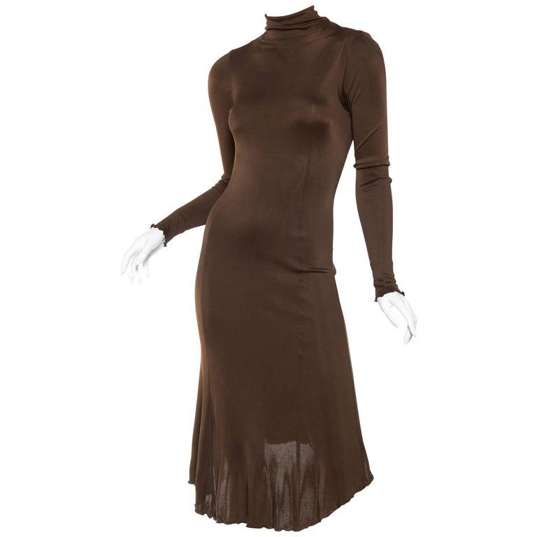 Slinky Backless Jersey Dress