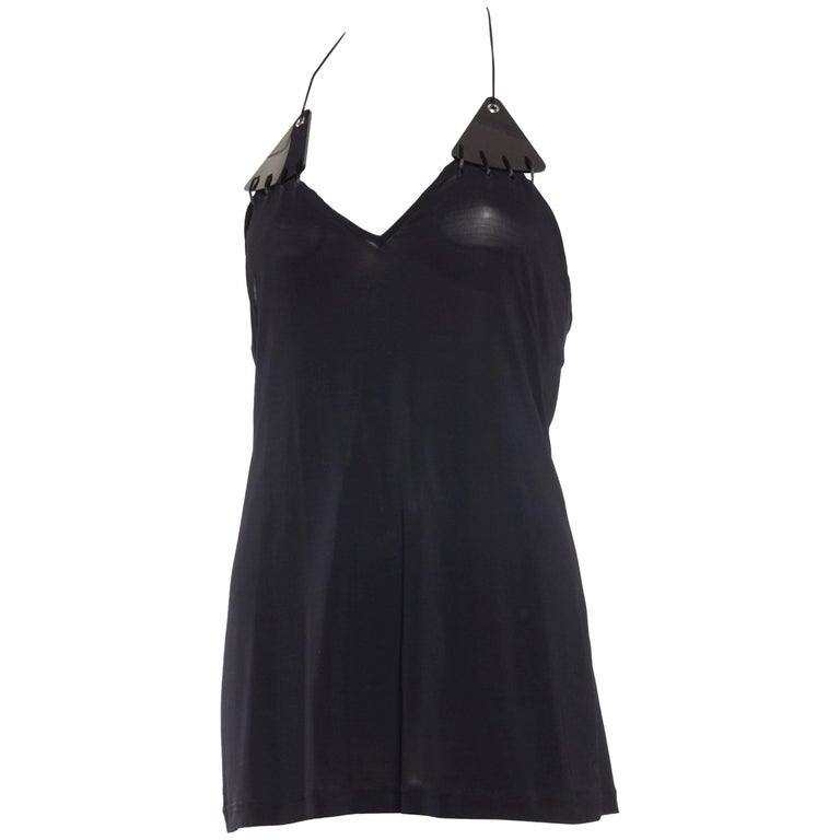 Paco Rabanne Backless Micro Mini Halter Dress For Sale