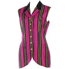 1990s Gianni Versace Versus Striped Vest