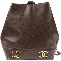 Chanel Brown Caviar Leather Sling Bag