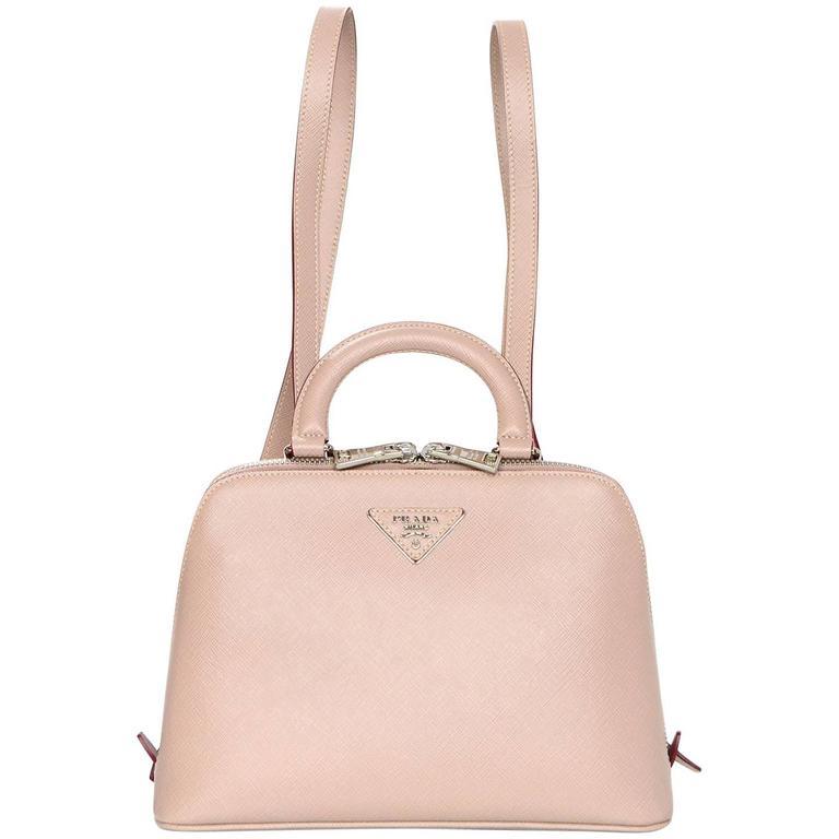 cc4a8511 Prada Taupe Saffiano Lux Leather Promenade Mini Backpack Bag