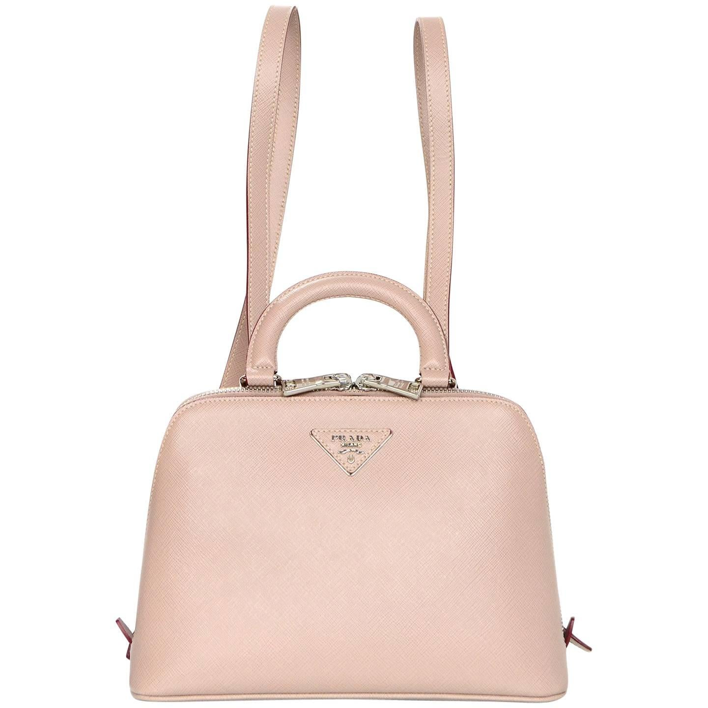 7d0258c199b0 ... discount code for prada taupe saffiano lux leather promenade mini  backpack bag for sale 0aeb1 5e85e