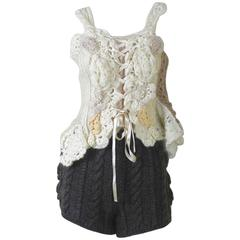 Tao Comme des Garcons 2006 Collection Handknit Corset and Shorts