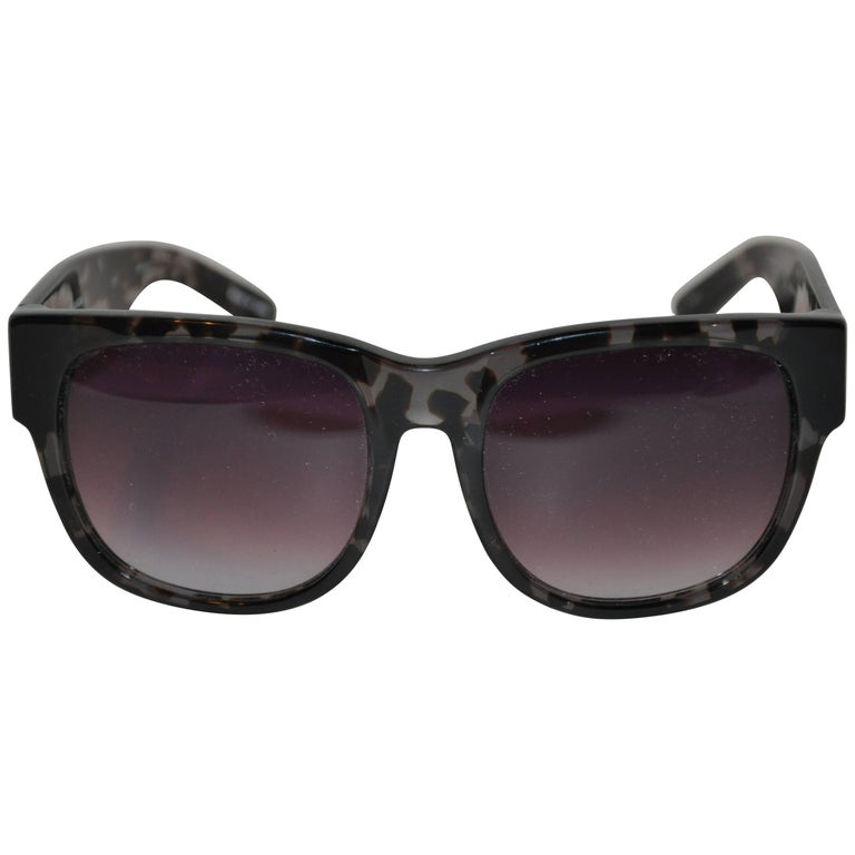 Matthew Williamson & Linda Farrow Clear Olive Tortoise Shell Sunglasses