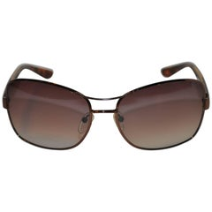Valentino Smoked Hardware Accented with Tortoise Shell Sunglasses