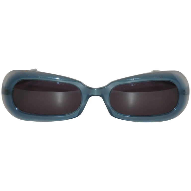 "Thierry Mugler ""Shades of Turquoise"" Lucite Sunglasses"