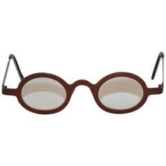 "Theo (Belgium) ""Keith"" Steel-Bronze Hardware Glasses"