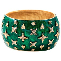 Kenneth Jay Lane Emerald Green Cuff