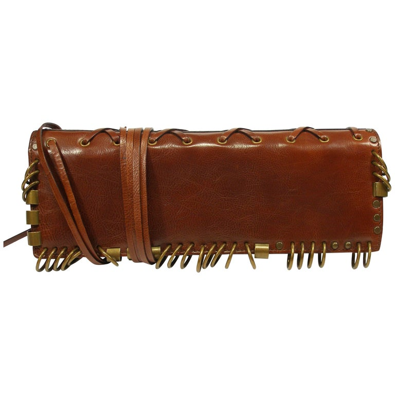 FANTASTIC & COLLECTIBLE Tom Ford for YSL leather Rock'n Roll clutch