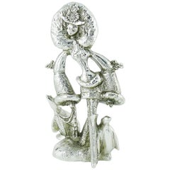 Christian Lacroix Vintage Rare Silver Toned Allegoric Paperweight