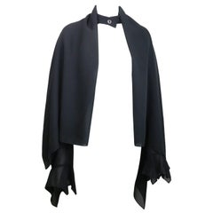 Ikons Black Polyester Cape Sleeves Jacket
