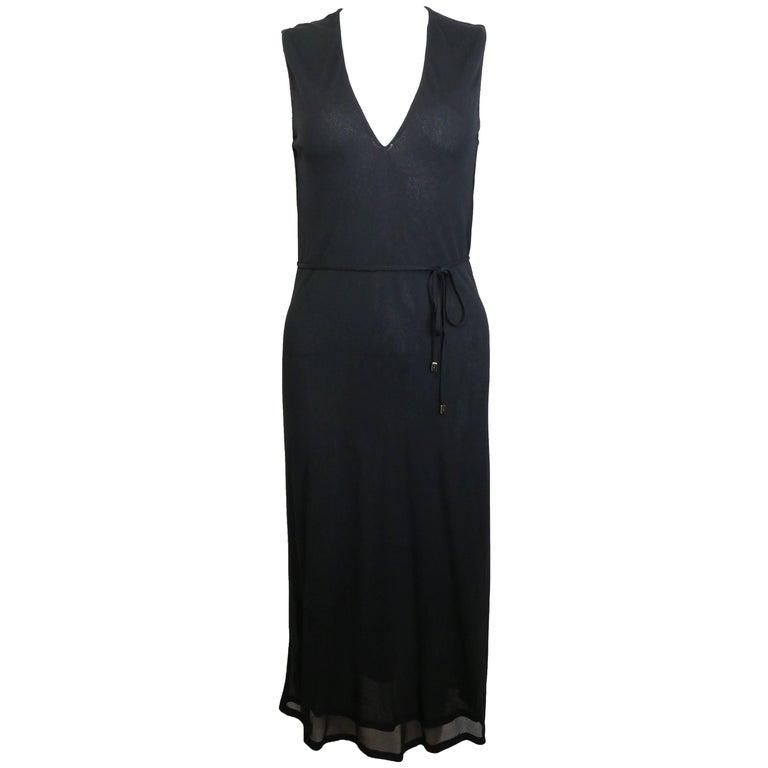 Gucci by Tom Ford Black V-neckline Dress