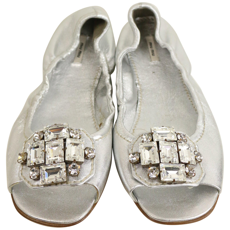 New 1960s 60s Vintage Silver Glitter Mod Babydoll Maryjane Heels