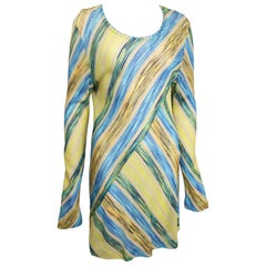 Missoni Multi Colour Diagonal Stripes Knitted Long Sleeves Dress
