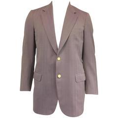 Men's Brioni Wool Herringbone Jacket in Luscious Lavender sz US 40