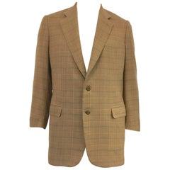"Men's Brioni Windowpane Check Classic Cashmere Jacket, 42"" chest"