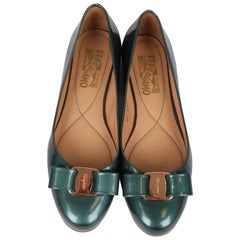 Salvatore Ferragamo Ballerina Flats - green