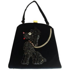 Rare Poodle Purse Handbag made by Soure New York