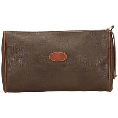 Mulberry Brown PVC Clutch Bag