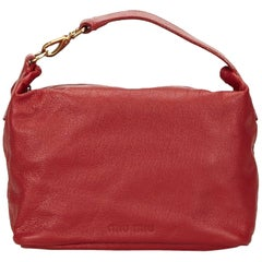 Miu Miu Red Leather Handbag