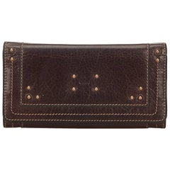Chloe Brown Leather Paddington Wallet
