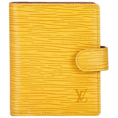 Louis Vuitton Yellow Epi Agenda PM