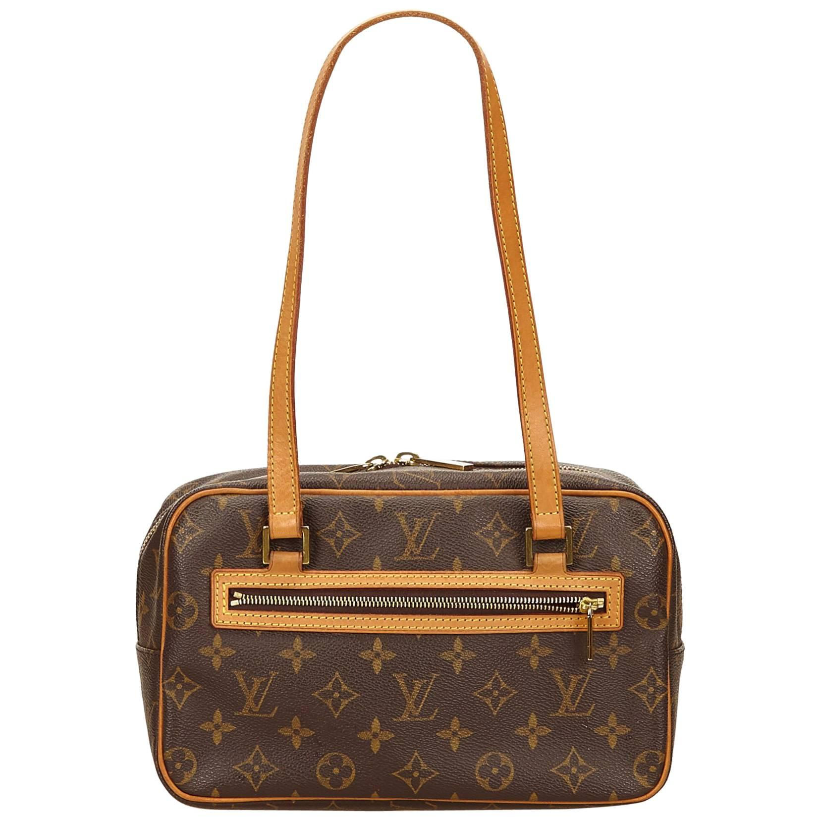 Louis Vuitton Cartouchière Bag In Brown Monogram Canvas And Natural Leather 4voF5P8
