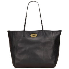 Mulberry Black Leather Tote Bag