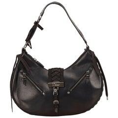 Dior Black Leather Corset Bag