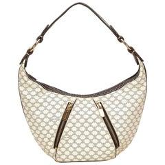 Celine White Macadam PVC Shoulder Bag
