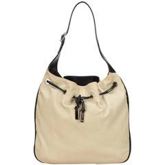 Gucci White Jacquard Shoulder Bag