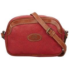 Mulberry Red Leather Shoulder Bag
