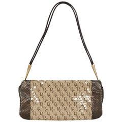 Bottega Veneta Brown Sequined Jacquard Shoulder Bag