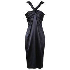 Dolce & Gabbana Silk Satin Halter Dress