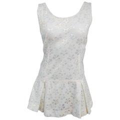 60s White Lace Tennis Dress