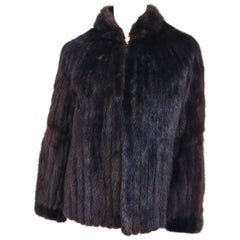 Avanti Espresso Brown Ranch Mink Jacket