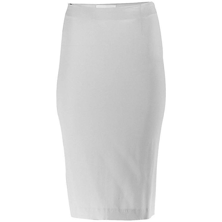 20th Century Maison Martin Margiela White Silk Asymmetric Seam Skirt For Sale