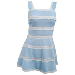 60s Baby Blue & Lace Tennis Dress