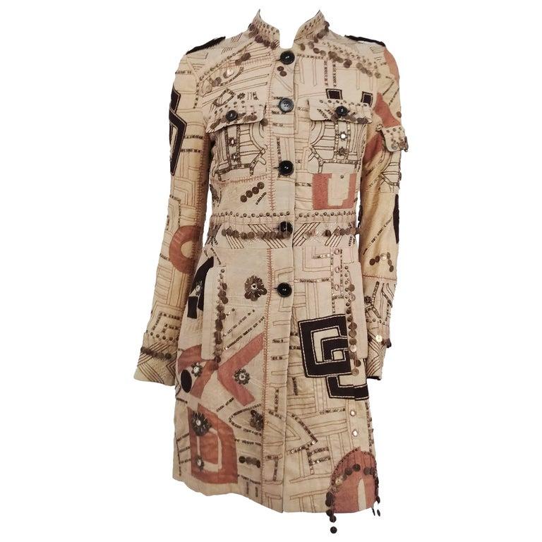 Etro Embellished Bohemian Coat
