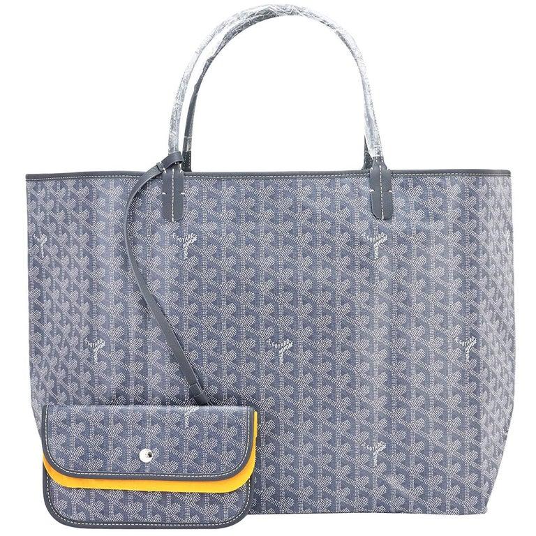 Goyard Grey St Louis GM Chevron Tote Bag Chic 1