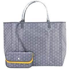 Goyard Grey St Louis GM Chevron Tote Bag Chic