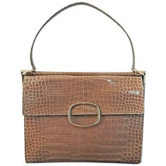 Highly Coveted Roger Vivier Crocodile Handbag Special Order Ltd. Edition New
