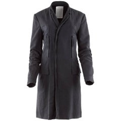 Undercover Clothing Charcoal Cotton Zip Pocket Car Coat