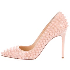 Christian Louboutin New Sold Out Blush Patent Pigalle Heels Pumps in Box