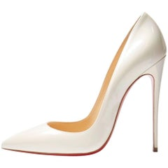 Christian Louboutin New Sold Out White Iridescent So Kate Heels Pumps in Box